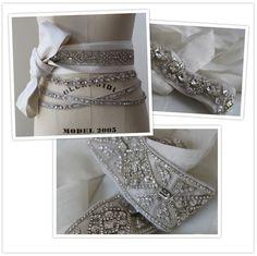 sparkly jeweled bridal belts