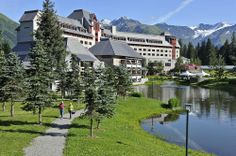 For a prime location near the slopes of Alaska, check in to The Hotel Alyeska.