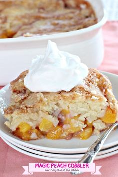 Magic Peach Cobbler | Can't Stay Out of the Kitchen | This luscious peachcobbler really is magical.  One of the best#cobblers we've ever eaten.