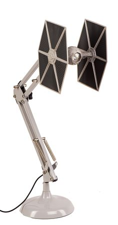 Fighting for the dark side whether at home or in the office, this superbly designed TIE Fighter Posable Desk Lamp is the ally you need to get the job done. A brilliant desk top lamp in the design of a classic Star Wars TIE Fighter, the iconic spaceship Star Wars Room Decor, Star Wars Bedroom, Star Wars Lamp, Decoracion Star Wars, Star Wars Furniture, Millenium Falcon, Star Wars Merchandise, Star Wars Kids, Tie Fighter