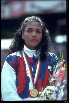 "Florence Griffith Joyner ""Flo-Jo"" September 1998 at Flo Jo, 1988 Olympics, Summer Olympics, American Athletes, Female Athletes, Olympic Team, Olympic Games, Olympic Athletes, Women In History"