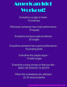 American Idol Workout! Want to see more workouts like this one? Follow us here.