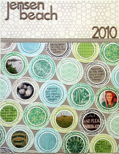 SC Boardwalk kit page made by Kinsey Wilson. LOVE what that gal can do with stamps, punches, and stitching. AMAZING!