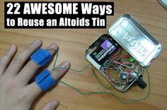 SHTF Preparedness  - 22 Ways to Reuse an Altoids Tin