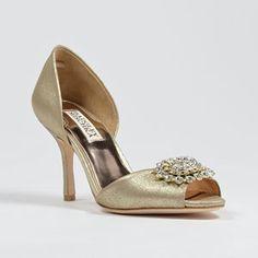 badgley mischka lacie-platino platino  Wedding Shoes