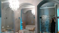 309 Brunner Circle.  Blythewood, SC Master bath mirrors with arches
