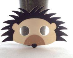 Masque hérisson funky - Woodland Creature - feutre masque animaux - Costume de hérisson
