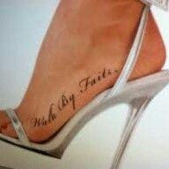Walk by faith tattoo by pike tattoo charlie 39 s preston for Tattoo charlie s preston hwy louisville ky