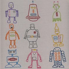 Robots Embroidery