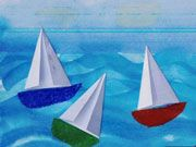 sailing with origami sails
