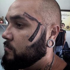 Face tattoo is quite a commitment. And the inspiration to have a permanent mark placed on your face is all about the design you choose. Face Tattoos, Cool Tattoos, Tattoo Designs, Body Adornment, Best Face Products, Tattoo Inspiration, Piercings, Tattoo Models, Beautiful