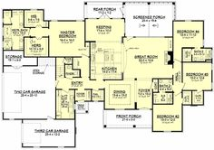 Traditional Style House Plan - 4 Beds 3.5 Baths 3195 Sq/Ft Plan #430-127 Floor Plan - Main Floor Plan - Houseplans.com