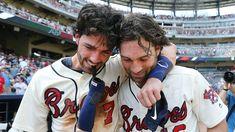 Braves Game, Braves Baseball, Baseball Games, Baseball Players, Baseball Stuff, Dansby Swanson, Washington Nationals, Cleveland Indians, Hot Guys