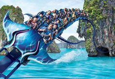 Illustration of Manta launch coaster, SeaWorld San Diego, Calif. (© SeaWorld San Diego)