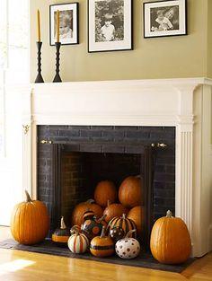Cute idea for indoor fall decor