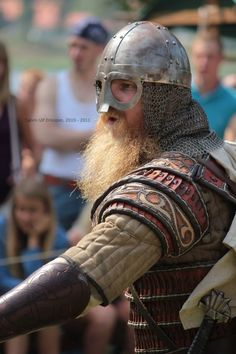 "intotheabyss1488: ""A fantastic looking photo of a Viking warrior!  """