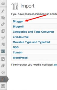 Import Blogger into WordPress