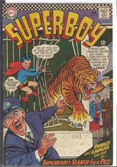 Tiger - Cage - Dc Comics - Zoo Keeper - Superbabys Search For Pets - Curt Swan