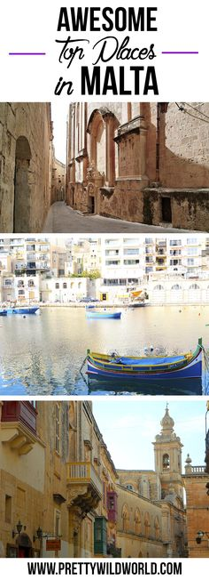 Awesome Places to see in Malta! Island by the Mediterranean, enjoy the heat and the amazing views of this island. Check it out or pin it for later read!