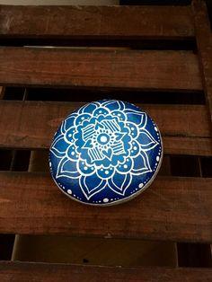 Mandala stone , the size of a hand