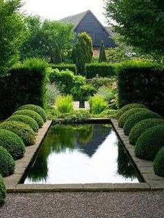 Topiary and water