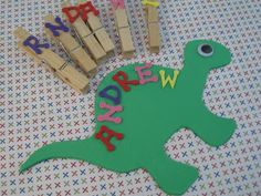 Love this idea for teaching younger kids to recognize and spell their name