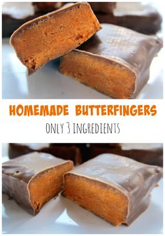 Homemade Butterfingers - only 3 ingredients! Tastes like the real thing!