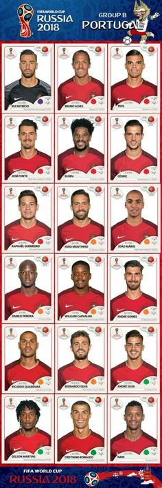 # Panini Stickers # Portugal National Team FIFA World Cup 2018 – Dress Archive Uefa Football, Football 2018, Best Football Team, National Football Teams, World Football, Soccer World, World Cup 2018 Teams, Fifa World Cup, Cristiano Ronaldo