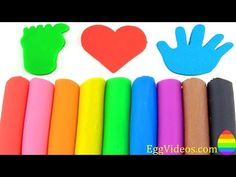 Learn Colors with Play Doh Modelling Clay Hand Foodprints Heart Molds Fun & Creative for Kids - YouTube