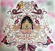 Castle Leaves Enchanted Forest Castelo Floresta Encantada Johanna