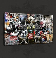 BANKSY GRAFFITI ARTIST COLLECTION CANVAS PRINT WALL DESIGN FREE DELIVERY
