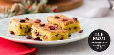 Sticky Lemon Cranberry Bars