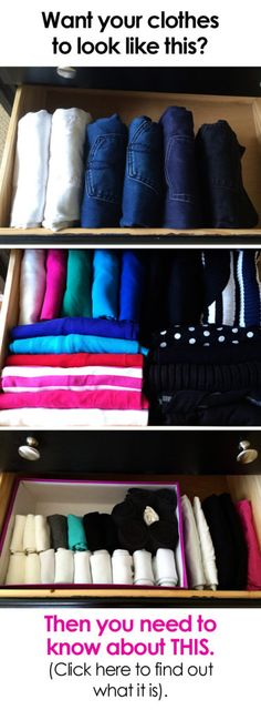 Learn this amazing KonMari organization technique so you can see what is in your drawers with a single glance!