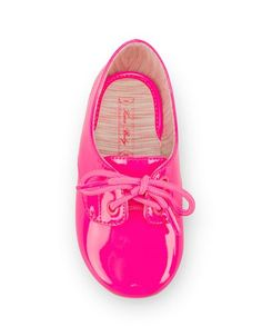 @Danielle Parrish get these for Alaina, like ASAP: mini pink patent shoes
