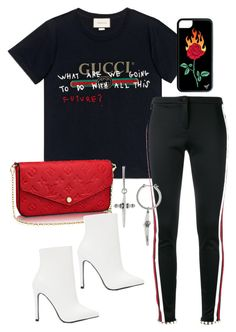 """Untitled"" by whoiselle ❤ liked on Polyvore featuring Gucci, Public Desire and Luv Aj"