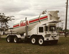 Mack FDM mixer with trainer cab Mack Trucks, Big Rig Trucks, Semi Trucks, Cool Trucks, Cement Mixer Truck, Types Of Concrete, Equipment Trailers, Concrete Mixers, Road Train
