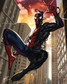 "comics-station: ""Amazing Spider-man Artwork by In-Hyuk Lee Follow The Best Comics Artwork Blog on Tumblr """