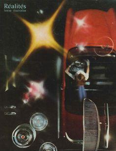 """Les carrosseries toujours belles: la Simca P60 qui signifie """"personnaliser"""" et """"1960"""", c'est-à-dire en avance de deux ans (photo Jean-Philippe Charbonnier) - Réalités n°153, octobre 1958"""