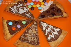 Chocolate Nacho Pizza by Jazzy Gourmet