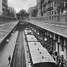 Andenes del apeadero de MZA en la calle Aragón. Fuente: Archivo Alex Reyes.
