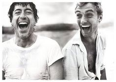Because a smile and laughter IS the best fashion! I'll take both please. Robert Downey, Jr. and Jude Law.