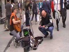 Firenze musicista da strada - street musician in Florence
