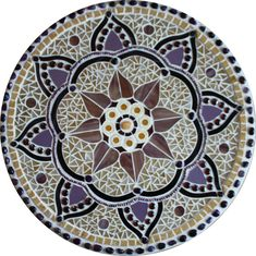 Mosaic Mandalas interpreted in stained glass, freshwater pearls, traditional glass smalti, glass beads, semi-precious stones and backpainted glass. Mosaic Stepping Stones, Pebble Mosaic, Stone Mosaic, Mosaic Glass, Mosaic Tiles, Glass Art, Stained Glass, Sea Glass, Mosaic Artwork