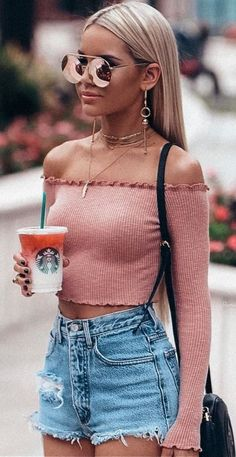 Awesome Summer Outfits That Always Looks Fantastic, Spring Outfits, Hello Summer . The Heat Is For Reallll Did You Guys Like My Roots Blonde Like This ? Or Better Darker. Trendy Summer Outfits, Cute Casual Outfits, Fall Outfits, Summer Clothes, Simple Outfits, Chic Outfits, Tumblr Summer Outfits, Casual Summer, Girly Outfits