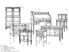 Meubles styles sieges style louis xvi histoire des for Histoire du meuble