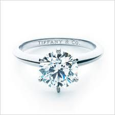 What I really want from Patrick. A simple Tiffany solitaire engagement ring.
