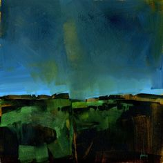 Terminal light - original acrylic semi-abstract landscape painting