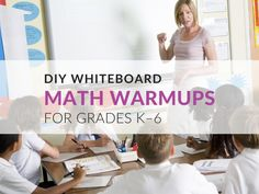 Fun DIY Whiteboard Math Warmups for Grades K–6 Diy Whiteboard, Fun Math, Math Resources, Fun Diy, Free Printables, School, Blog, Maths Fun, Math