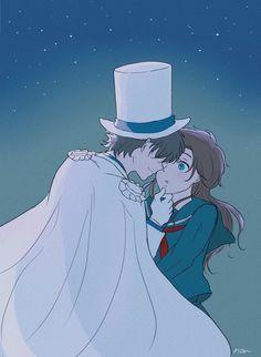 Conan, Gosho Aoyama, Kaito Kid, Kudo Shinichi, Magic Kaito, Manga, Anime Couples, Cartoon Characters, Detective
