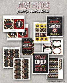 Fire Truck Party Collection - DIY